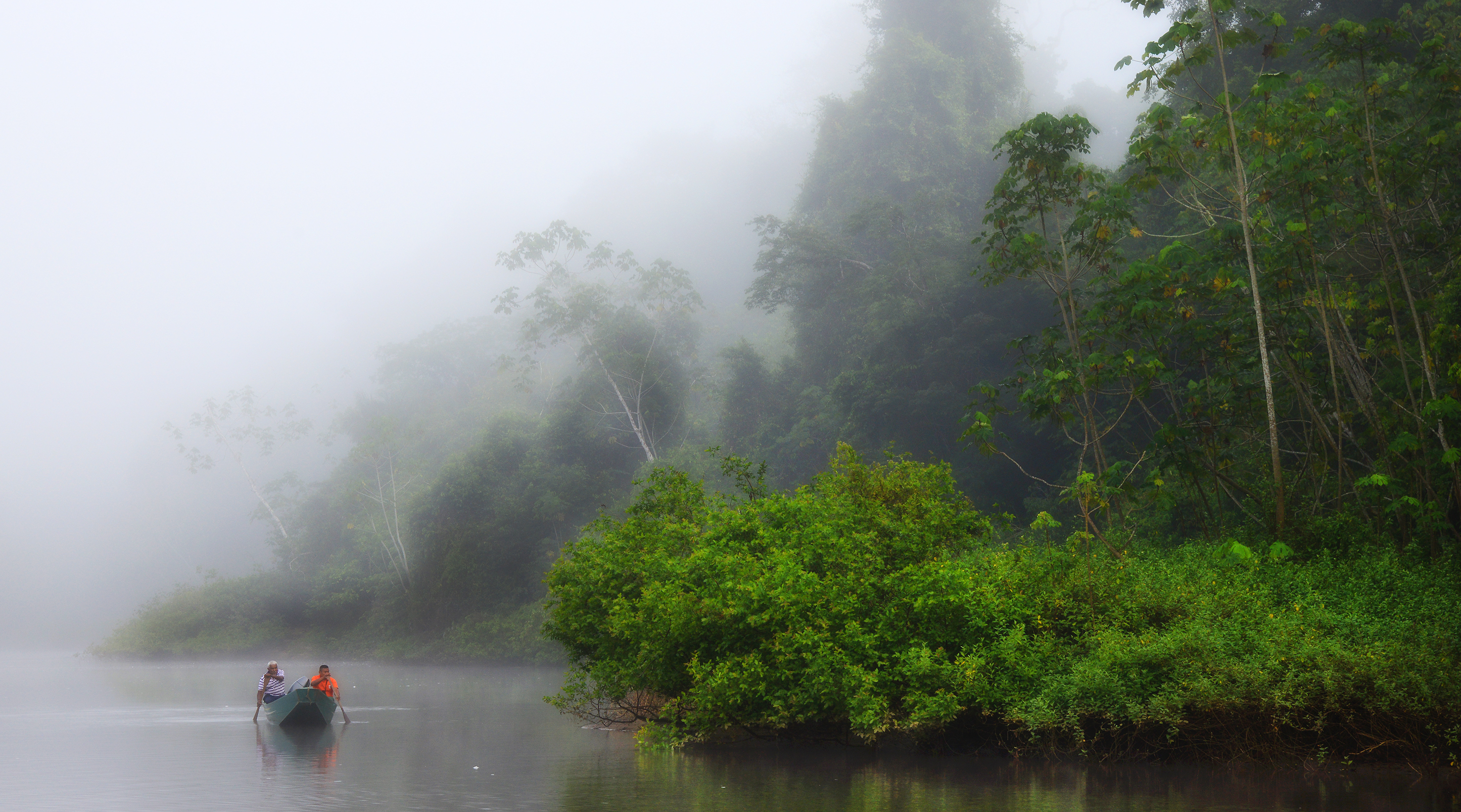 On assignment in the primary rainforest of Suriname