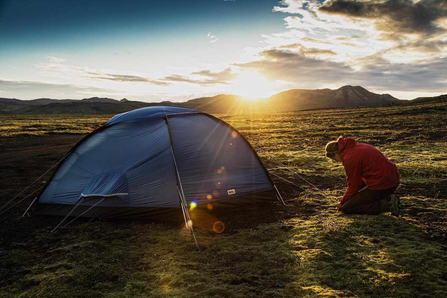 Sunset in the icelandic highlands