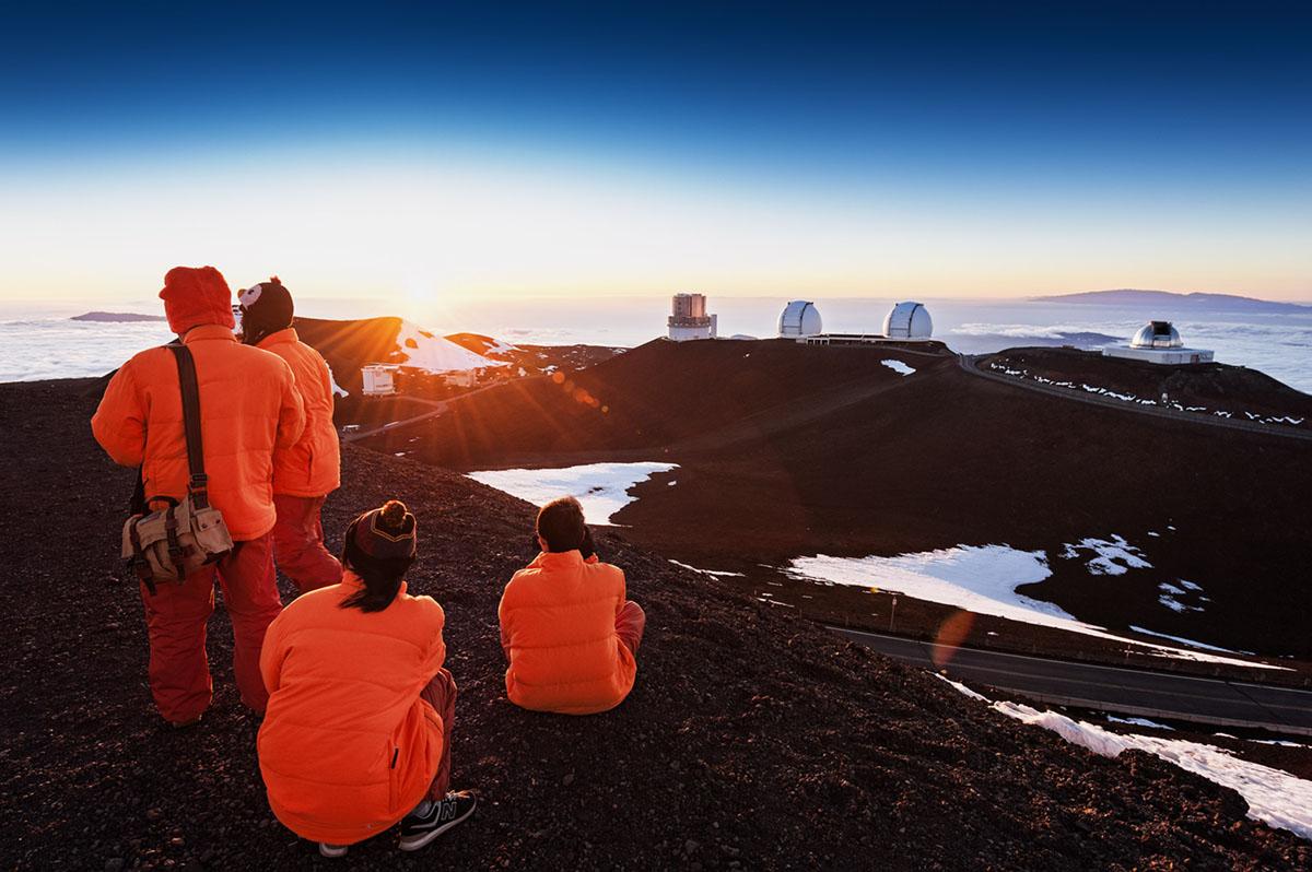 Sunset on top of Mauna Kea