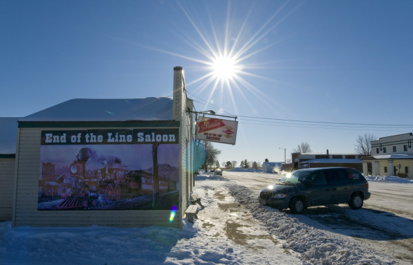 USA, Minnesota, Saloon, in the middle of nowhere, Winter, Schnee, 3/2009