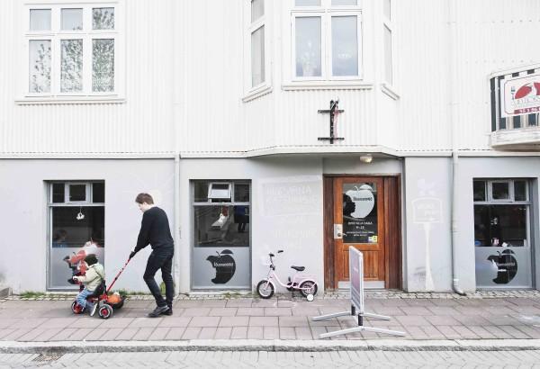 Europa, Island, Suedisland, Reykjavik, Kinderwagen, 2011